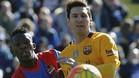 Messi celebr� su victoria 250 en Liga con el FC Barcelona en el Campo del Levante