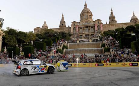 S�basti�n Ogier durante la primera etapa en el circuito urbano de Barcelona