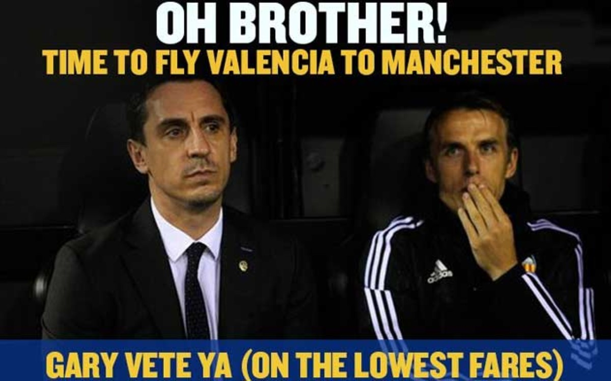 La aerolínea low cost Ryanair también hechó a Gary Neville del Valencia