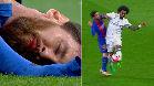 ¡Perdonan la roja a Marcelo tras un codazo a Messi en la cara!
