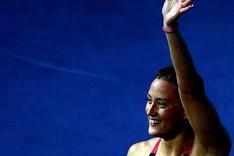 Belmonte tras conseguir la medalla