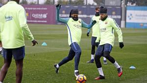 El entrenamiento del FC Barcelona, en directo