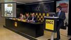 Presentación del rally, en Barcelona