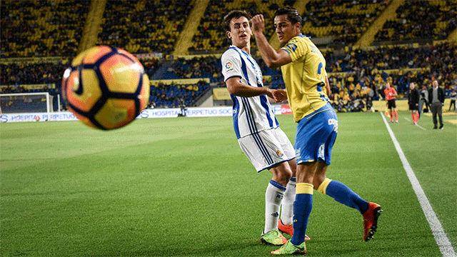 Video resumen Las Palmas - Real Sociedad (0-1). Jornada 24, Liga Santander 2016-17