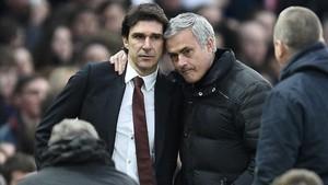 Mourinho, con su protegido