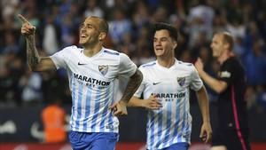 Sandro ha celebrado 14 goles con el Málaga y quiere marcar alguno más antye el Madrid