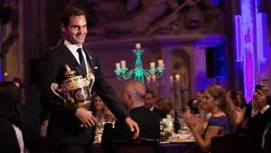 Roger Federer, en la Cena de Campeones