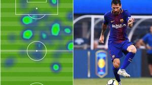 Messi se multiplicó en el césped del MetLife Stadium