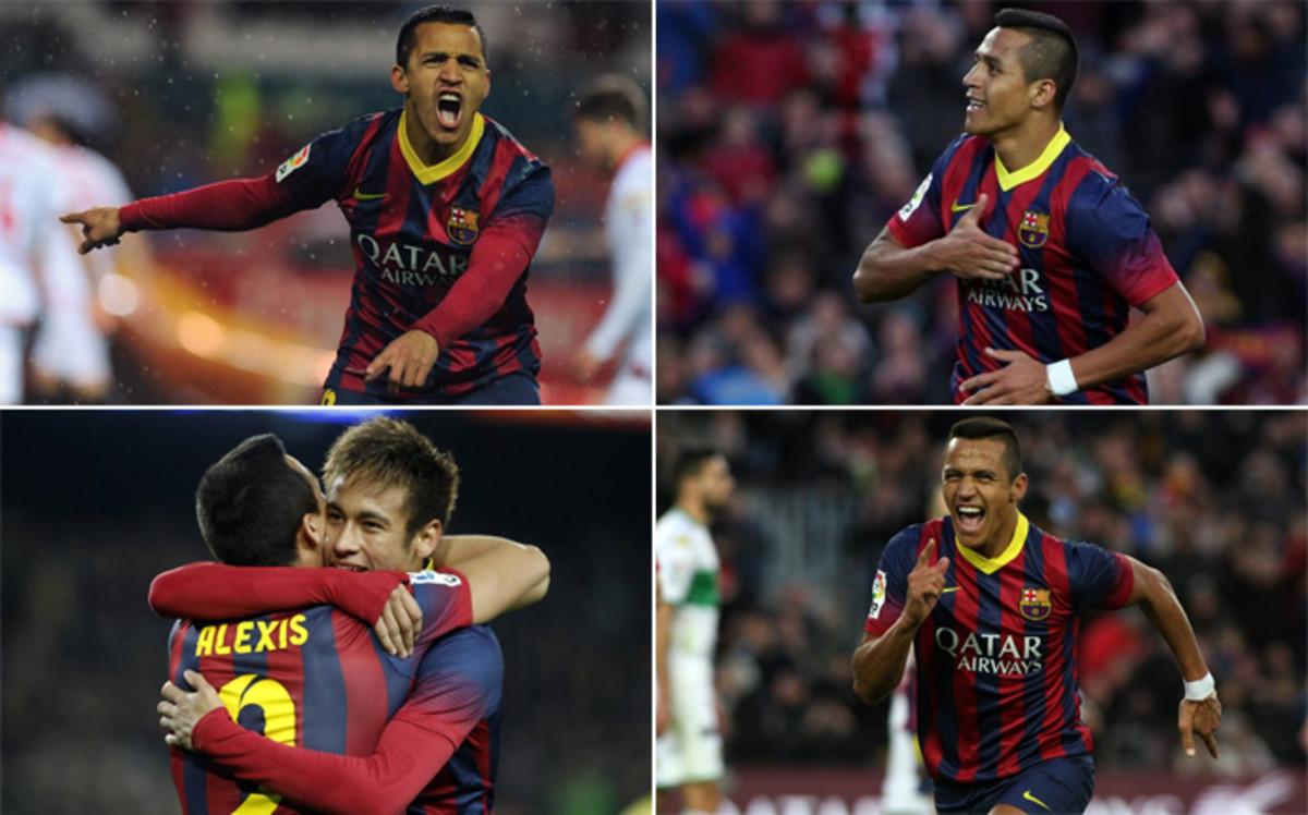 Alexis S�nchez vuelve al Camp Nou: el 'Ni�o Maravilla' no se adapt� al Bar�a