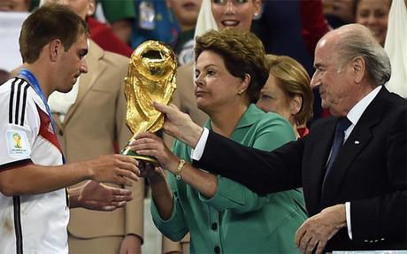 Blatter, presidente de la FIFA, en la final del Mundial de Brasil