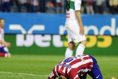 David Villa se qued� as� tras fallar un penalti