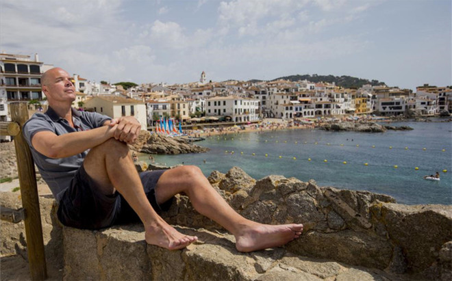 Ferran Mart�nez disfrutando de Calella de Palafrugell