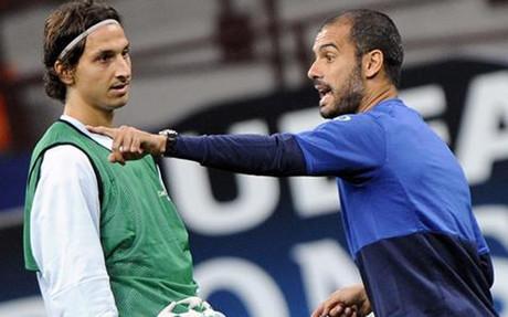 Ibrahimovic y Pep Guardiola no se entendieron en el FC Barcelona