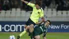 18-10-2005: Leo Messi en acci�n en el Panathianikos-Bar�a de la Champions 2005/06