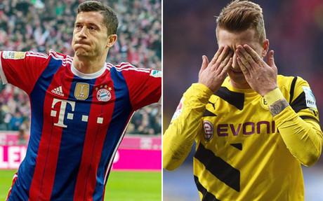 Lewandowski y Reus, cara y cruz de la jornada
