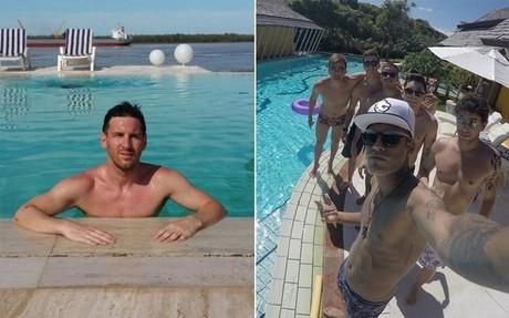 Messi y Neymar, durante sus vacaciones de Navidad en Argentina y Brasil