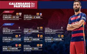 Calendario del próximo mes del FC Barcelona