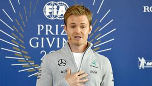 Nico Rosberg en el momento en que ha anunciado su retirada inmediata de la Fórmula 1