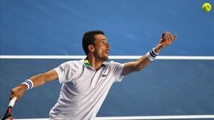 Roberto Bautista, parte del equipo español en la Copa Davis