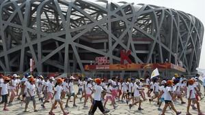 El Nido de pájaro de Pekín, una de las instalaciones emblemáticas de los Juegos de 2008