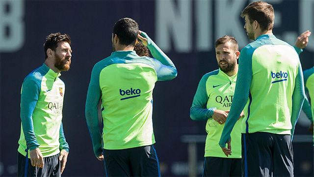 Así ha sido el último entrenamiento del Barça antes del Clásico