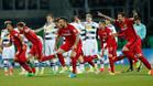 Los jugadores del Eintracht estallaron de júbilo al final de la tanda