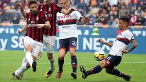 El Milan, en caída libre