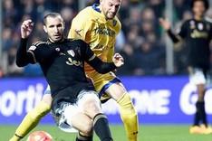 Giorgio Chiellini durante el partido contra el Frosinone