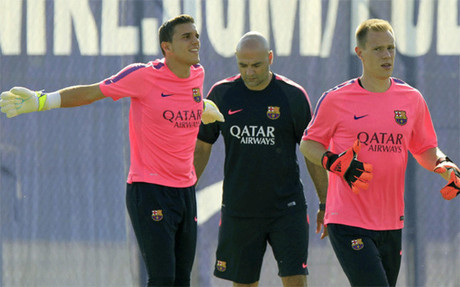 Jordi Masip (left), Ter Stegen (right)
