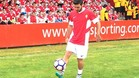 Víctor Rodríguez, en su presentación como nuevo jugador del Sporting