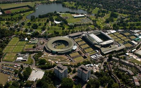 Vista panorámica de las instalaciones de Wimbledon.