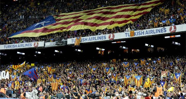 Así fue el ambiente del Camp Nou