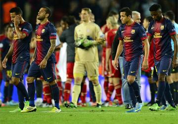 El Barça, humillado y fuera de Europa