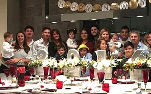 Messi, rodeado de su familia en fin de año