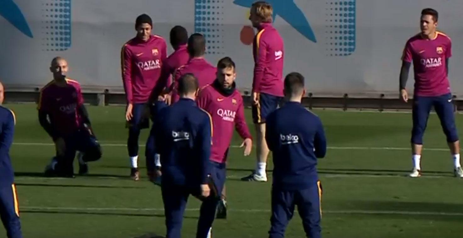 El Barça se prepara para el partido contra el Granada