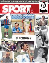 La portada del sábado de SPORT