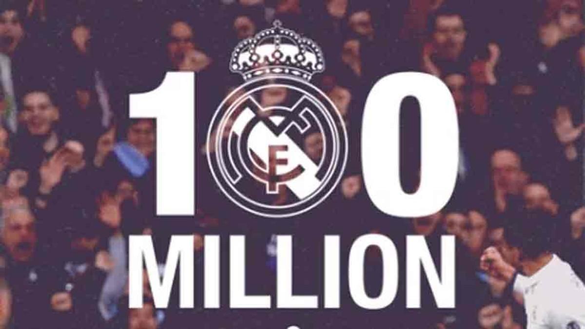 El sospechoso crecimiento del Real Madrid en Facebook para llegar a los 100 millones