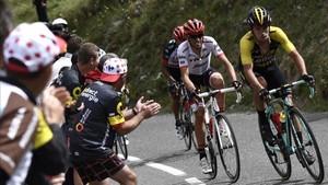 Contador no pudo seguir el ritmo de Roglic en el Galibier