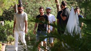 Imágenes del almuerzo de los jugadores del FC Barcelona este miércoles en Gavà
