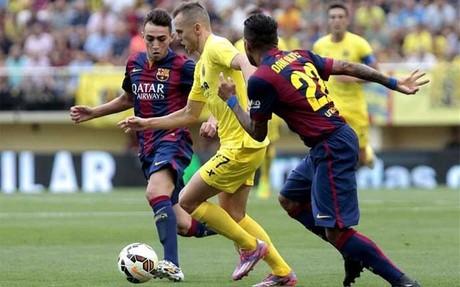 Alves, satisfecho por el triunfo en Villarreal