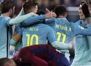 Euforia azulgrana después del primer gol