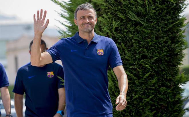 Luis Enrique Mart�nez, entrenador del FC Barcelona