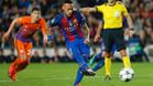 Neymar falla un penalti y lo arregla con un gol