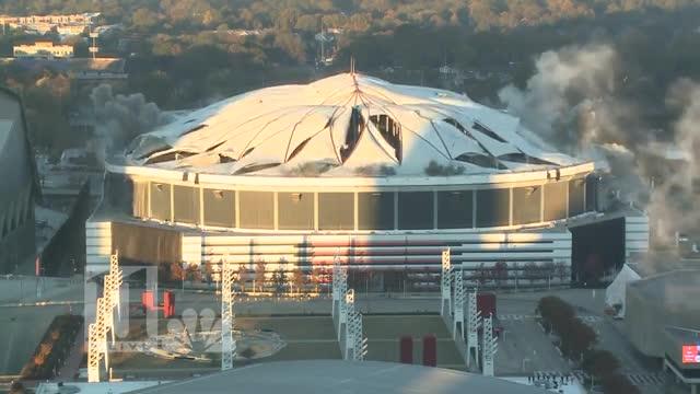 Queda en ruinas el Georgina Dome de Atlanta