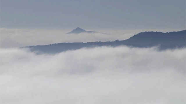 La impresionante niebla en Pamplona