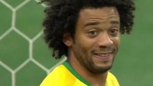 El error de Marcelo le costó un gol a Brasil