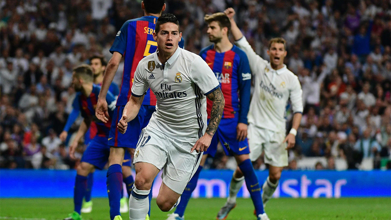 Video resumen: El gol de James Rodríguez en el Real Madrid - FC Barcelona (2-3)