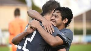 Los jugadores del Legia, celebrando el triunfo