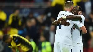 El Tottenham celebró por todo lo alto un triunfo que dejó tocado al Borussia