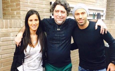 Mascherano, junto a Joaqu�n Sabina